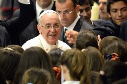 Le Pape François en tête-à-tête avec les élèves d'écoles jésuites