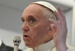 Sur l'avion du retour, les confidences du Pape