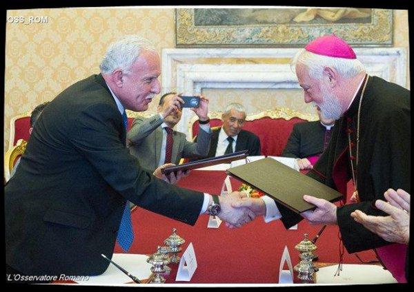 Entrée en vigueur de l'accord global entre le Saint-Siège et la Palestine