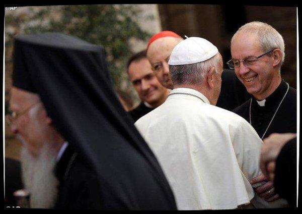 Justin Welby à Rome pour un rapprochement entre anglicans et catholiques
