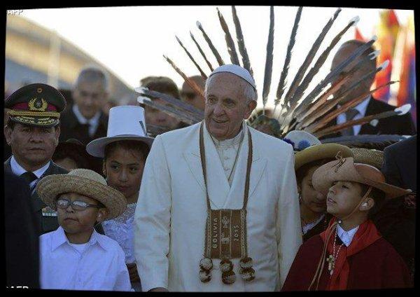 Le Pape rencontre les représentants des peuples indigènes