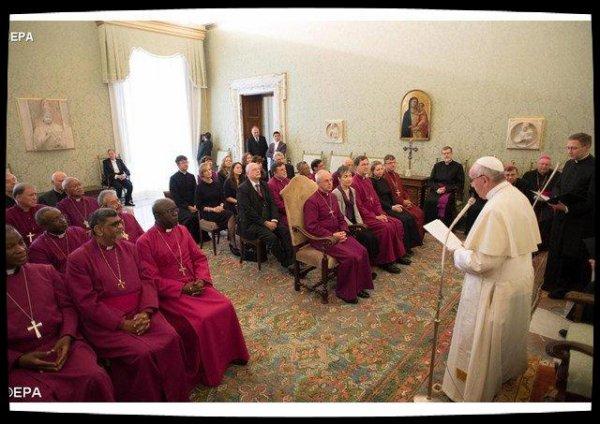 Le Pape à la paroisse anglicane de Rome le 26 février