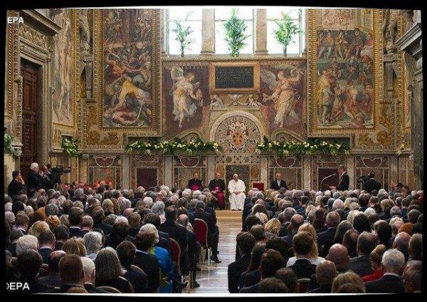Les responsables de l'Union Européenne au Vatican le 24 mars
