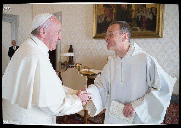 Le Prieur de Taizé, Frère Alois, reçu par le Pape François