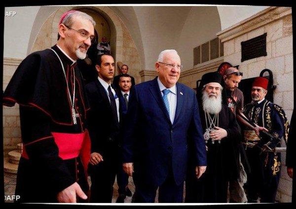 Le président israélien visite le Patriarcat latin de Jérusalem