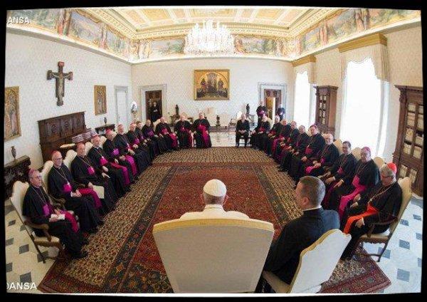 """Le Pape reçoit les évêques de l'Ontario en visite """"ad limina"""""""
