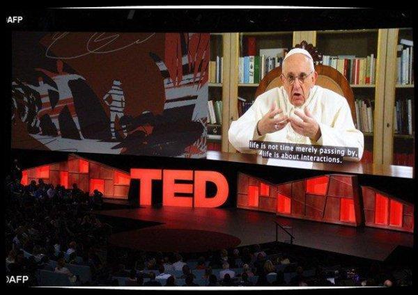 Le Pape s'adresse à une conférence TED organisée au Canada