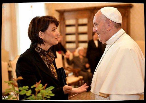 La présidente de la Confédération suisse reçue par le Pape