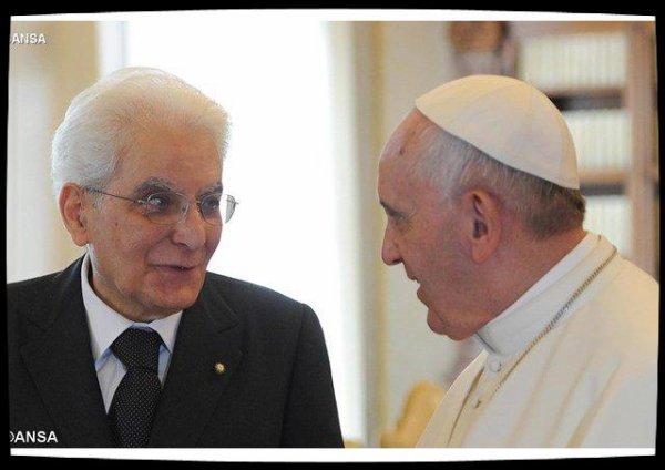 Le Pape François rencontre le président italien Sergio Mattarella le 10 juin
