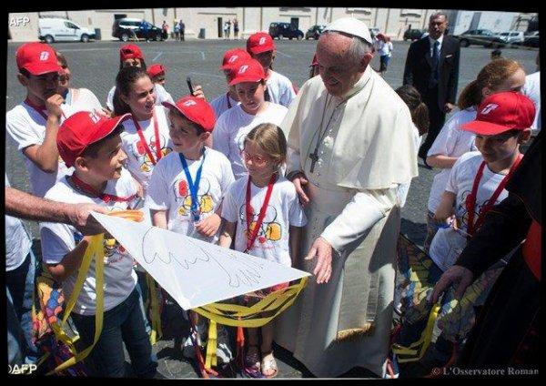 Train des enfants: 400 enfants touchés par les séismes italiens attendus au Vatican