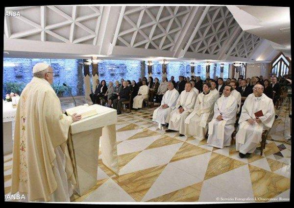 Le Pape à Sainte-Marthe: «la vraie doctrine unit, l'idéologie divise»