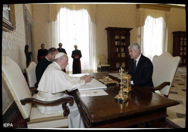 Audience du Pape à un membre de la présidence de Bosnie-Herzégovine