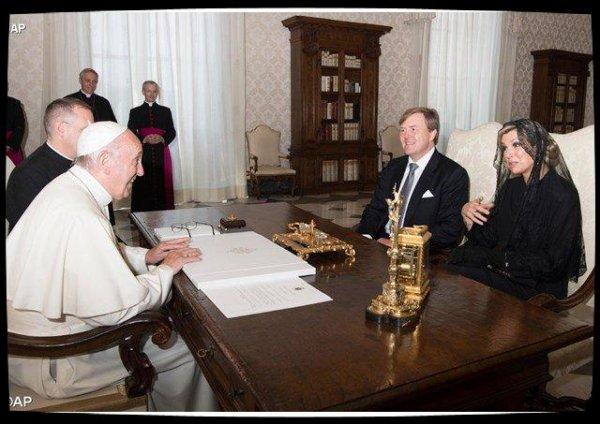 Le Pape reçoit le roi et la reine des Pays-Bas
