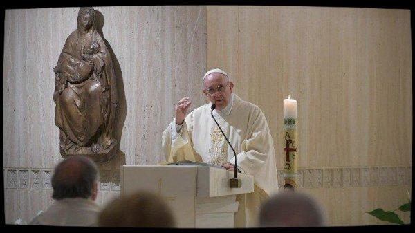 """le Pape à Ste Marthe: """"le témoignage chrétien dérange"""""""