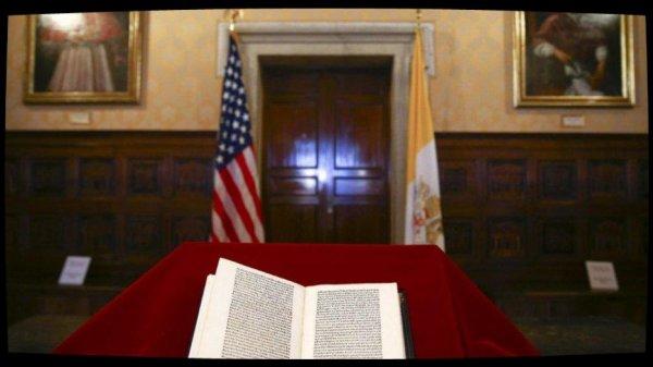 Les Etats-Unis restituent au Vatican la copie d'une lettre de Christophe Colomb