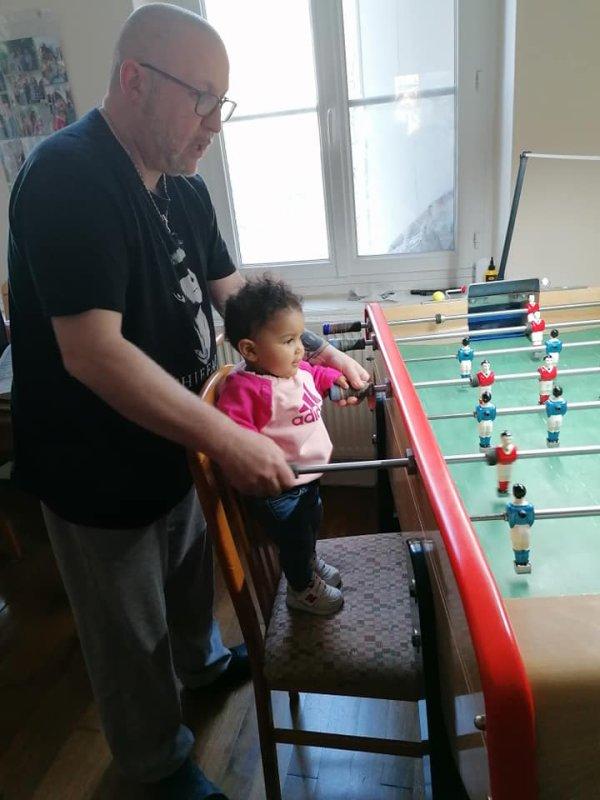 entraînement avec ma petite fille Yana