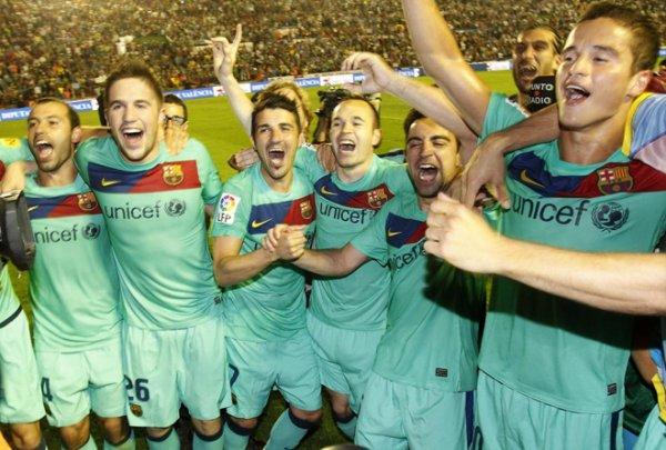 Photo match Levante-FC Barcelone ( 1-1) : 11 Mai
