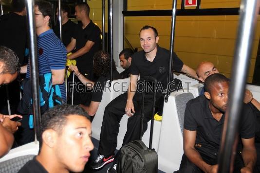 Le Barça arrive a Londres