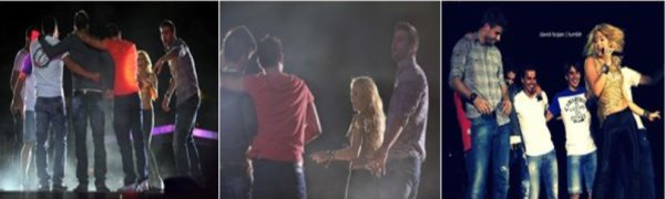 Le Fc Barcelone fete son titre de champion d'europe au Concert de Shakira
