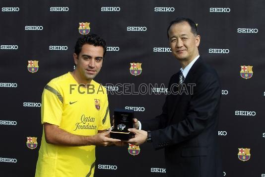 le Fc Barcelone reçoivent des montres