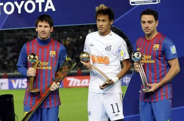 Santos - FC Barcelone Mundial del club .FC Barcelone Champion