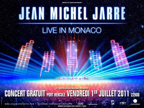 Concert gratuit géant à Monaco le 1er juillet 2011