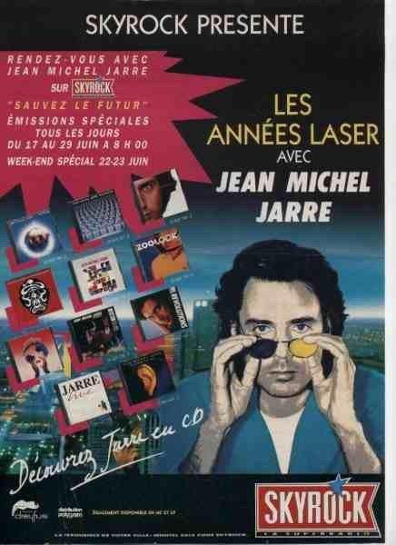 Publicité Skyrock du début des années 1990 avec Jean Michel Jarre