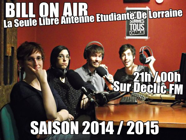 BILL ON AIR >> REECOUTEZ L'INTEGRALE DE LA SAISON 2014 / 2015 !