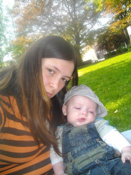 moi et mon bebe a 3 mois