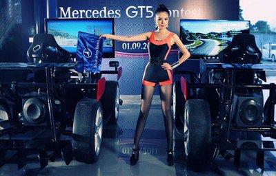 Cẩm Lynh et la borne Gran Turismo