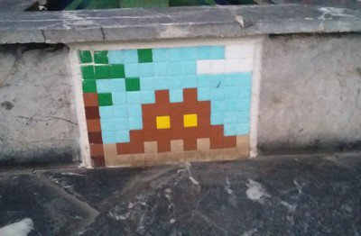 Space Invader en vacances