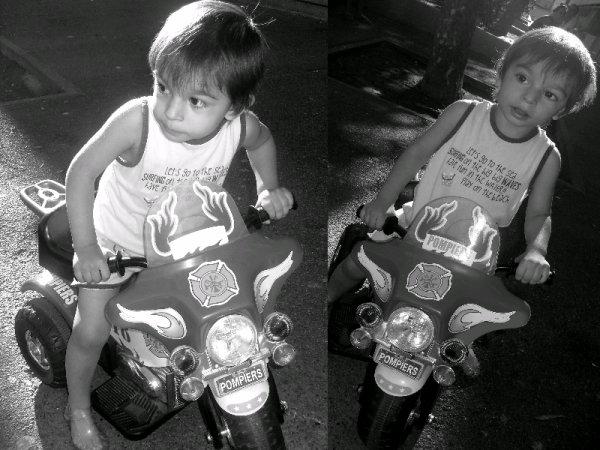 Manu en Moto