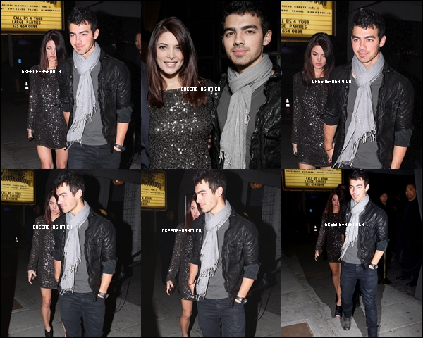"* 30 novembre 2010 - Ashley et Joe Jonas au club ""Voyeur"". *"