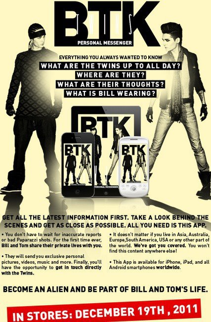 "L'application "" BTK Twins Personal Messenger "" sort le 19 décembre 2011 !"