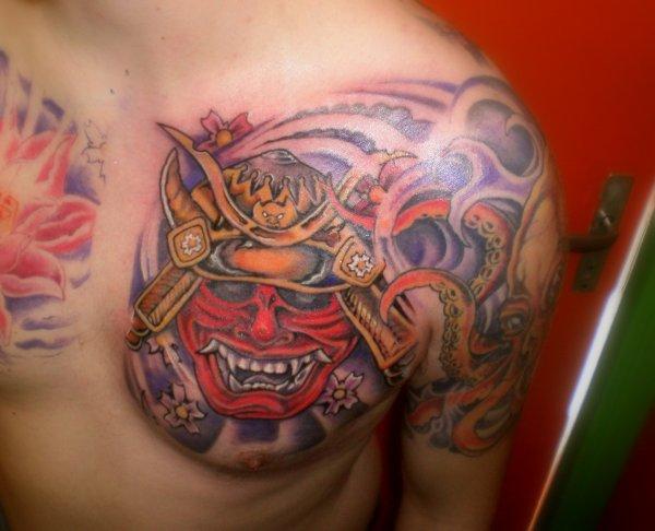 demon japonais freddy tattoo. Black Bedroom Furniture Sets. Home Design Ideas
