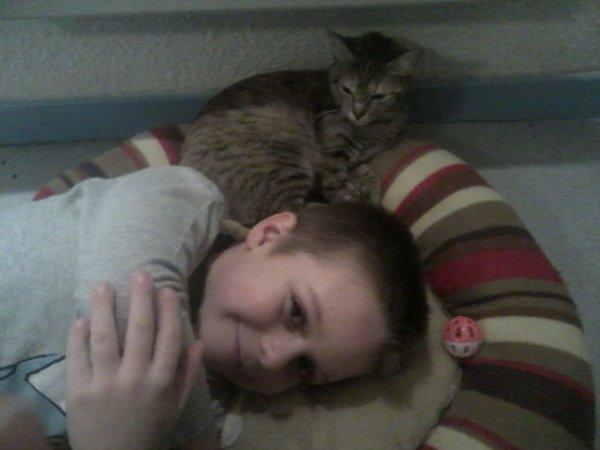 Tony et notre chat nina