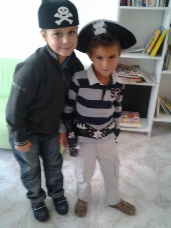 mes enfants en mode pirate