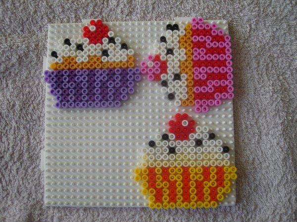 cupcakes perles Hama