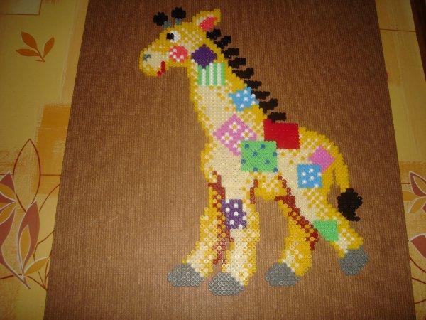 girafe perles Hama livre inspiration n°13