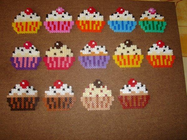 tous les cupcakes réunis et encore j'en ai donner à ma maman