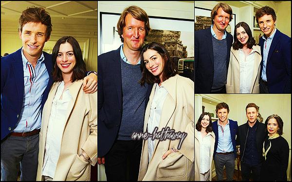 . ► Le 21/12/15 Anne a été prendre un brunch pour célébrer son rôle dans The Danish Girl avec Eddie Redmayne par Focus Features . .