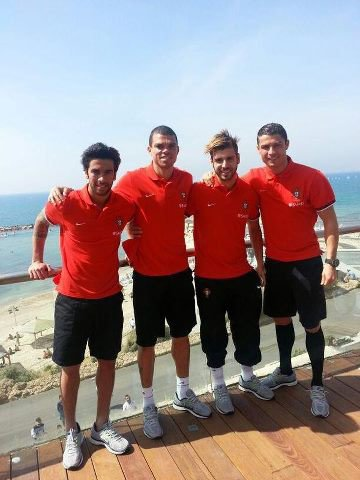 Ronaldo & ces coéquipier du Portugal en Israel !