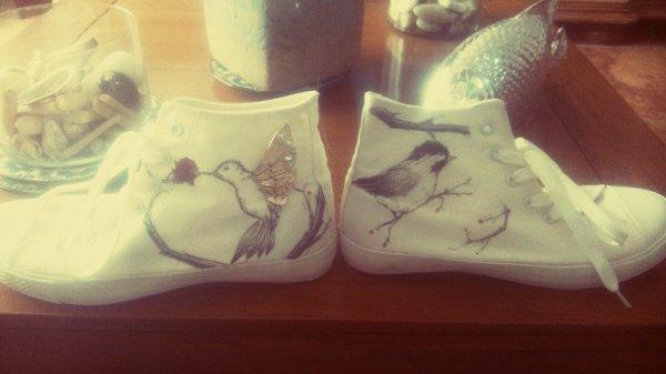 J'ai customisé des chaussures