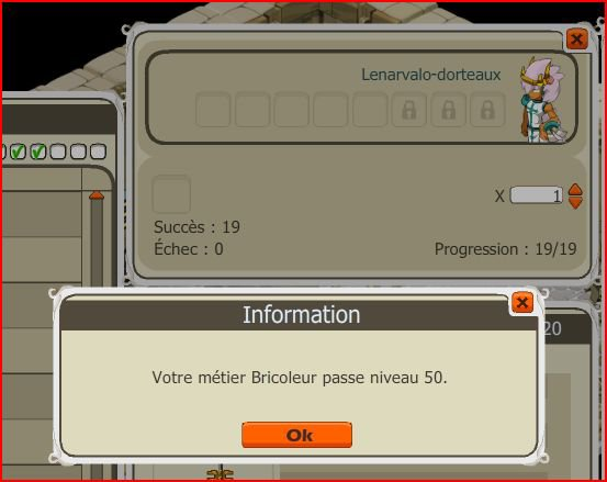Up  Bricoleur lvl 50 !