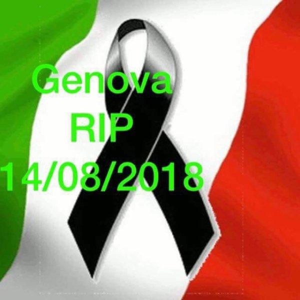 Pont de Gênes effondré 14/08/18 à 11:30