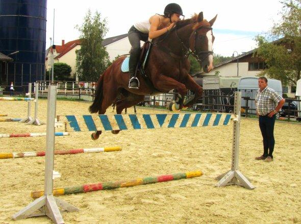 Cours de saut  mi aout :)