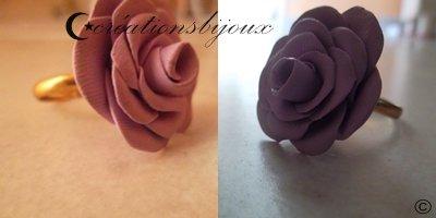 Bague rose+ tuto