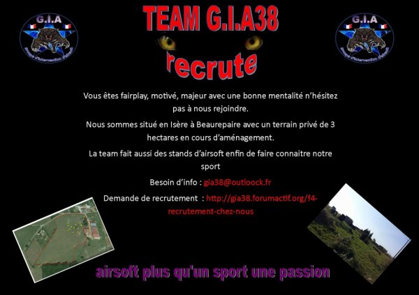 la team recrute