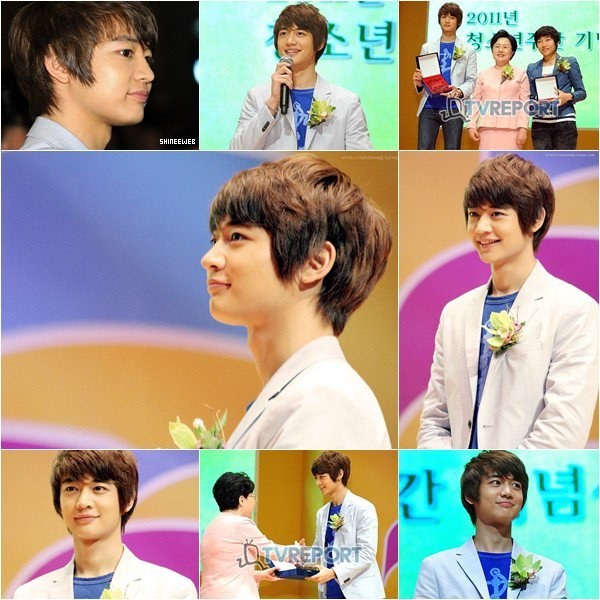 . MinHo était  à la 'Youth Week Celebration 2011' le 23 mai dernier. J'adore sa tenue ! .