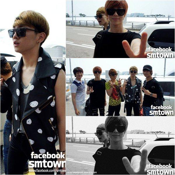 . 7 juin 2011 | Les fabuleux SHINee viennent d'embarquer sur un vol direction Paris il y a environ 2 heures. Ils sont radieux ♥ .